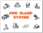 PIPE CLAMP HANDRAIL SYSTEM 40mm - ELBOW, TEE, SOCKET, BASE PLATE, CONNECTOR, ETC