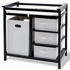 Baby Infant Diaper Changing Table w  3 Baskets Storage Organizer Home Furniture