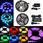 5M 3528 5050 300 SMD Flexible LED Strip Light IR Remote Power Supply Waterproof