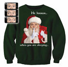 Digital Dudz Adult Santa Sweatshirt Ugly Christmas Sweater, Green White Red