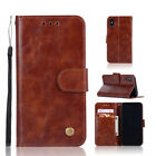 Retro Leather Wallet Card Holder Flip Stand Case Cover For Sony Lenovo Alcatel