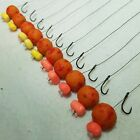 10 X HAIR RIGS PRELOADED WITH 15mm DEVOUR BAITS PINEAPPLE OOZE POPUPS CARP