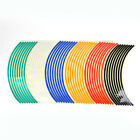 Strips Wheel Stickers Decals For Reflective Rim Tape Bike Motorcycle Car Pip UK