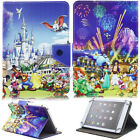 For Samsung Galaxy Tab E/A/S2 Tab 4/3 Cartoon Pattern Leather Case Stand Cover