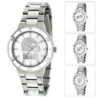 NFL Football Team Game Time Pearl Silver Tone Women's Dress Watch MTO