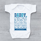 Love From The Bump Father's Day New Arrival Poem Boys Baby Grow Bodysuit