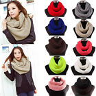 Soft Women Winter Warm Infinity Cable Knit Cowl Neck Long Scarf Shawl Charm US