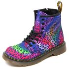 D3868 (without box) anfibio bimba DR. MARTENS leopardato boot shoe kid girl