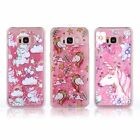 Liquid Glitter Hearts Crystal Sparkling Bling Water TPU Silicone Case Cover