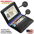 Men Women Leather Wallet Small Thin Bifold RFID Credit Card Holder ID Window New
