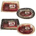 MAKE YOUR OWN HAMPER WICKER BASKET CELLOPHANE WOOD WOOL BOW XMAS GIFT SET KIT