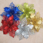 New Glitter Hollow Christmas Flower Wedding Party Decor Xmas Tree Ornaments