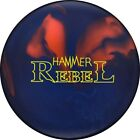 NEW Hammer Rebel Solid Polyester Bowling Ball, Blue/Orange, 14, 15 & 16 LB