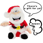 Farting Santa Plush Doll Toy Talking Christmas Figure Stuffed Holiday Décor Gift