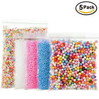 5 Pack Foam Beads for DIY Slime Supplies Craft Styrofoam Balls Mixed Colors Size
