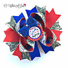 Military Daddy Hair Bow Patriotic Soldiers Daughter Hairbow Army Navy Marine Bow