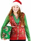 Xmas Ugly Sweater Vest Long Sleeve T-Shirt Christmas Faux Real Adult Womens