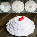 80X Lace Doily Wedding Party Cupcake Cake Cookies Round Paper Pads Placemat BB