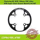 Driveline Chainring M1 BCD 104mm CNC Alloy MTB Super Chain Guard- Black42/44/48T