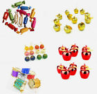 12pcs Christmas Tree Ornaments Hangings Pendants Candy/Snare Drum/Apple/Ball