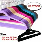 Lot 10/ 50/ 100 Non Slip Velvet High Quality Clothes Suit/ Shirt/ Pants Hangers