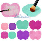 Silicone Makeup Brush Cleaner Cleaning Cosmetic Scrubber Board Mat Pad Hand Tool