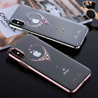 Slim Case for iPhone X Bling Bling Crytal Diamond Transparent PC Hard Cover Case