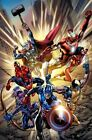 Marvel The Avengers Age of Ultron Point One Comic Book Cover as Fine Art Canvas