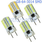 1-10pcs G8 3W Dimmable 64-3014 SMD LED Light Bulb 110v/220v Clear Silicone lamp