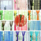 1pcs Room Voile Tulip Flower Print Curtain For Living Room Door Window 1M*2M