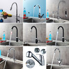 Modern Kitchen Mixer Tap Basin Sink Tap Single Lever Swivel Deck Hot&Cold Faucet
