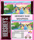 DISNEY PRINCESS BIRTHDAY PARTY FAVORS CANDY BAR HERSHEY BAR WRAPPERS