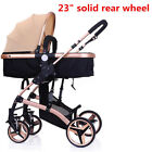 Luxury High View Folding Pram Baby 3IN1 Combi Stroller  Buggy Carriage Infant