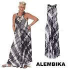 ALEMBIKA  D312 Jersey  MAXI TANK DRESS  Long A-Line Bias Cut Resort 2018 TIE-DYE