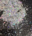 Silver Holographic Chunky Glitter for Nails - Face - Body - Make-up - festival