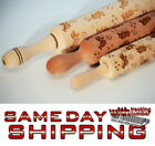 CUTE CATS Wooden Rolling Pin Laser Cut Curved Design Pattern Embossing