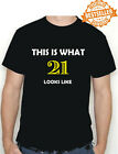 21st BIRTHDAY T-shirt / Tee (This is what!!) Funny / Xmas / Gift / Holiday S-XXL