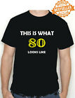 80th BIRTHDAY T-shirt (This is what!!) Funny Printed T-Shirt Choose size / colou