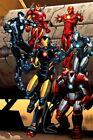Iron Man Suit Tribute Different Models Marvel Comic Book Cover Artwork on Canvas