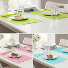 Heat Resistant Dining Room Silicone 44x28.5cm Placemats Table Mats Non Slip EC