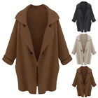 1 PC Warm Winter Womens Classic Jacket Overcoat Knitted Without Pocket New