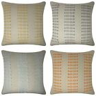 "Zara Embroidered Cushion Cover Luxury Modern Linen Style Cushions 18"" x 18"""