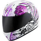Scorpion EXO-R410 Novel Full Face Motorcycle Helmet Black/Purple Adult Sizes