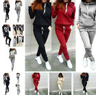2pcs/set Women Hoodies Sweatshirt Pants Casual Tracksuit Jogging Gym Sports Suit