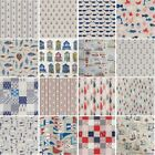 Nautical & Ocean Life Cotton Linen Look Fabric Collection 18 Designs 140cm Wide