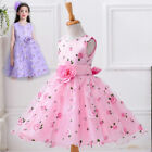 Beauty Kids Girls Sleeveless Flowers Princess Dress for Party Birthday