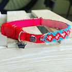 handmade collars with safety breakaway buckle for cats