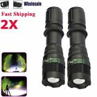 Tactical Zoomable 50000Lumen LED T6 LED Flashlight Lamp Torch+18650+Charger+Case