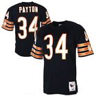 Walter Payton 34 Chicago Bears Mens Navy 1985 Retired Player Throwback Jersey