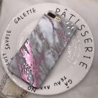 Shockproof for iPhone X 6s 7 Plus TPU Marble Printed Glitter Case Silicone Cover